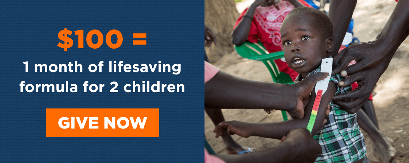 $100 = 1 month of lifesaving formula for 2 children - Give Now