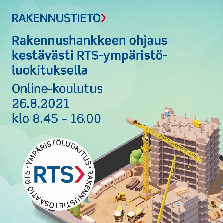 Rakennushankkeen ohjaus kestävästi RTS-ympäristöluokituksella